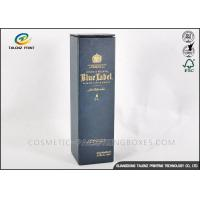 Buy cheap Customized Dark Paper Wine Box Logo Printed Rectangle Shaped With Long Lifetime product