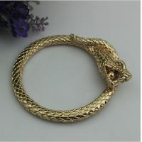 Buy cheap Luxury design top quality zinc alloy light gold snake shape 60 mm width bag accessories handle product