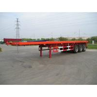 China Three axle Low Bed Flatbed Semi Trailer 40'ft container trailer on sale