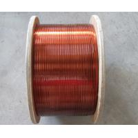 Class A Rectangular / Flat Enamelled Copper Wire 200 Degree For Transformers