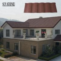 Buy cheap China cheapest stone coated metal roofing corrugated sheet roman travertine tile product