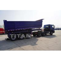 China 3 axles dumper aggregate side dump tipping trailers 45cbm tipper gooseneck grain dumping semi trailers for sale on sale