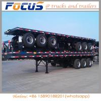 Buy cheap 30000kg Tri axles 40FT Container Platform Cargo Special Semi Trailer with 12.00r20 tyre product