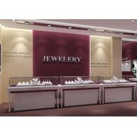 Buy cheap Wooden MDF + Tempered Glass Jewelry Display Cases With Light product