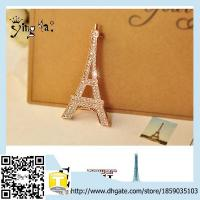 Buy cheap Wholesale Fashion Custom Classic  Crystal Rhinestone Eiffel Tower Crystal Brooch product