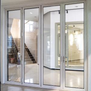 Buy cheap White Powder Coated T5 Aluminum Folding Doors For Patio product