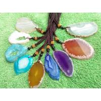 Buy cheap Colorful Slice Druzy Pendant With Gold Plating Natural Agate Stone Slices product