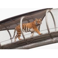 Buy cheap Metal Network Stainless Steel Tiger Wire Mesh / Big Cat Crossing Mesh product