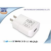 China Intertek Small Size Pure White US Plug 5V 2A Wall USB Charger with One Port wholesale