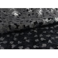 China Golden Black Sequin Lace Fabric With 3D Embroidery Fabric For Party Gown Dresses on sale