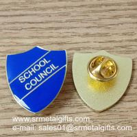 Buy cheap Shield shape epoxy enamel lapel pin, color filled lapel pins, product