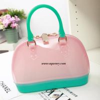 Buy cheap Buy small clear transparent PVC zipper shell bag for ladies,welcome OEM design product