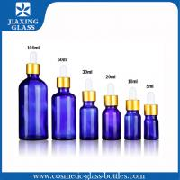 Buy cheap 1Oz Cobalt Blue Essential Oil Glass Bottle With Glass Eye Dropper product