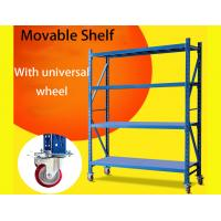 Buy cheap Light Duty Warehouse Storage Shelves Movable Shelving Units With Universal Wheel / Brake product