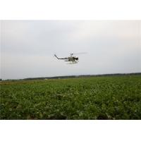 Quality Industrial Gasoline Powered Flybarless RC Helicopter with 4 Nozzles , UAV Spraying for sale