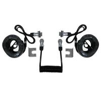 Quality 7 Pin Trailer Curly Backup Camera Cable , Video Audio Spring Coiled Electrical for sale