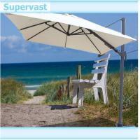 China Aluminum Offset Rectangular Patio Umbrella Sun Garden Parasol with Left - Right Shift Canopy on sale
