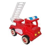 Buy cheap Wooden fire truck, wood truck toy product