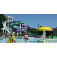 Buy cheap Outdoor Family Entertainment Equipment  , Fiberglass Pool Water Slides For Kids product