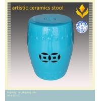 China colourful hollow ceramics stool on sale