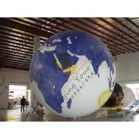 Quality Durable Huge Earth Balloons Globe , Inflatable Helium Filled Balloons for sale