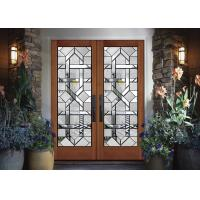 China Interior Wood Doors Classical Art Glass Panels Thermal Sound Insulation on sale