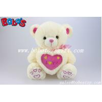 """Buy cheap 12""""/16""""/20""""/26""""/31""""Manufacturer Boys Toy Beige teddy bear with love heart pillow product"""