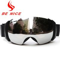 Safety Spherical Snow Goggles Interchangeable Lenses  , Anti Winds And Keep Warm
