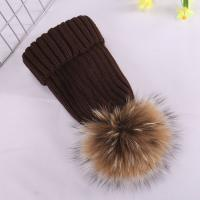 Buy cheap Adults Wool Top Knit Beanie Hats Plush Style Quick Dry Eco Friendly Feature product