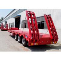 China Carbon Steel Low Bed Semi Trailer , 3 Axles / 4 Axle Semi Trailer For Log Transport on sale