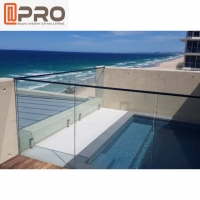 Buy cheap Outdoor Stainless Steel Frameless Aluminum Handrail With Glass product