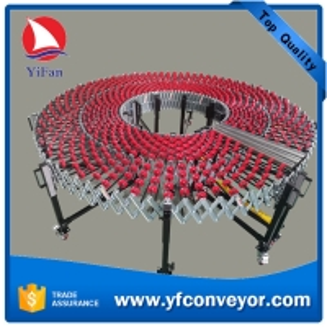 Telescopic Plastic Gravity Skate Wheel Conveyor
