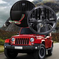 """Quality 60W 7"""" Fog Jeep LED Headlights With Hi / Lo H4 Or H13 For Wrangler JK for sale"""