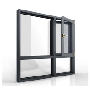 Buy cheap Outswing Casement Aluminium Single Swing Window With Steel Screen product