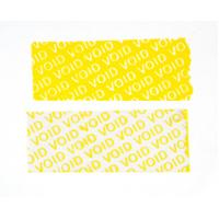 Buy cheap 25 Mic Polyester Void Seal Stickers Yellow Color PET High Residue Tamper Proof product