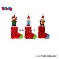 Buy cheap Plush Stuffed Xmas Animal Sock Toy Christams Ornament product