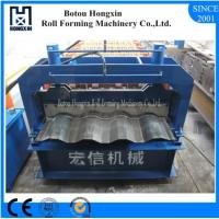 Buy cheap Aluminum Plate Cold Roll Forming Machine Hydraulic Pump 828mm Cover Width product