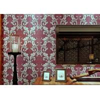 Buy cheap Damask Pattern Victorian Style Wallpaper with Eco friendly PVC Material , Strippable product