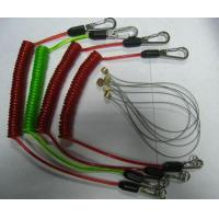 Buy cheap Tool lanyard flex coil cable with custom different colors rubber coated strong leashes product