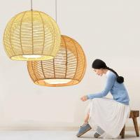 Buy cheap Rattan weaving bamboo Pendant Lamp For Indoor Home Lighting Fixtures (WH-WP-19) product