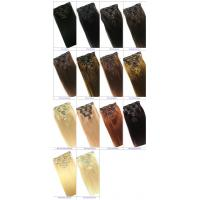 China Clip in Human Hair Straight Wavy Clip in Hair Extensions for Black Women on sale