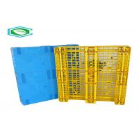 Buy cheap Rackable Single Faced Plastic Pallets, Heavy Duty Plastic Shipping Pallets With 8 Steel Tubes product