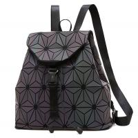 Quality Ready To Ship Laser Geometric Backpack China Supplier Holographic Bag PU Leather OEM Fashion Bag Supplier for sale