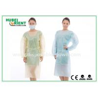 Buy cheap Hospital Disposable Isolation Gowns , Elastic Cuff disposable medical gowns product