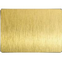 Buy cheap Golden Yellow Colored Stainless Steel Sheets Vacuum Plating HL Surface product