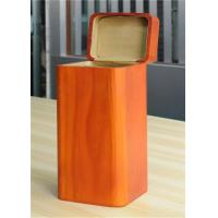 Buy cheap Handmade Wood Jewelry Boxes For Women Large Storage Case , Orange Color product