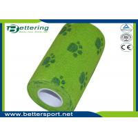 China Dog paw printing Veterinary Non Woven Self Adhesive Flexible Wrapping Bandage Coflex Pet Bandage wholesale