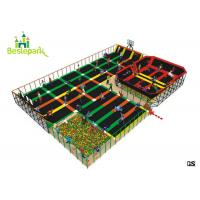 Buy cheap Soft Kids Indoor Trampoline , Professional Jump Bed Bounce Trampoline Park product