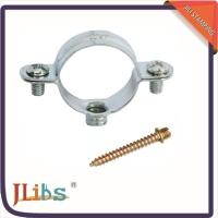 China Steel Building Wall Mount Pipe Clamp Metal Tube Clips 45+-5° Shore Hardness on sale