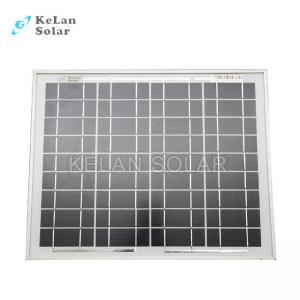 Small Size Mono Crystal Solar Panel 10 Watt Silver Frames 2% Module Efficiency